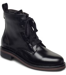 maliin mid lace boot shoes boots ankle boots ankle boot - flat svart gant