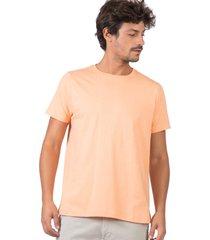 t-shirt básica fit color salmao salmao/g - kanui