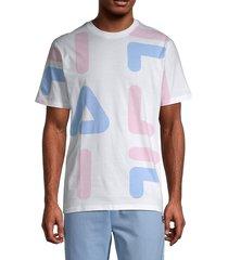 fila men's logo-print cotton tee - white grape - size xl