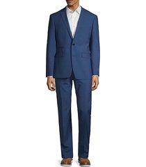 slim stretch plaid suit