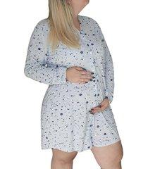 camisetão plus size pós cirurgias manga longa maternidade linda gestante