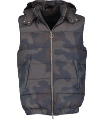 camo hooded puffer vest