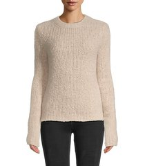 cashmere & silk boucle sweater