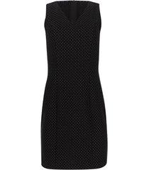 vestido puntos con cremallera trasera color negro, talla 10