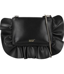 red valentino rock ruffles xl clutch bag