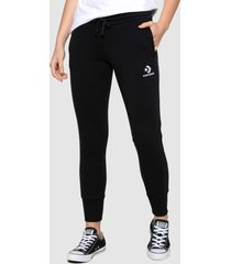 pantalón de buzo converse star chevron emb signature pant  negro - calce regular