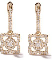 de beers 18kt yellow gold enchanted lotus diamond sleeper earrings