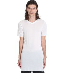 rick owens basic ss tee t-shirt in white viscose