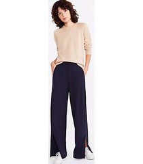 lou & grey signaturesoft plush wide leg pants