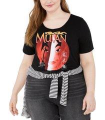 modern lux trendy plus size mulan graphic t-shirt