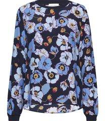 levira blouse lange mouwen blauw six ames