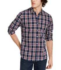 sun + stone men's dio plaid shirt, created for macy's