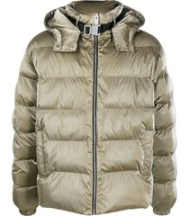 1017 alyx 9sm clip-neck quilted puffer jacket - green