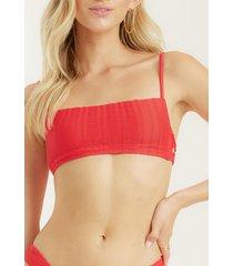 bikini sosten wave trip bralette rojo billabong