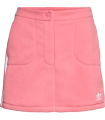 adicolor classics polar fleece skirt w kort kjol rosa adidas originals