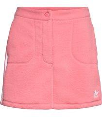 adicolor classics polar fleece skirt w kort kjol rosa adidas originals