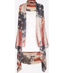 maurices womens americana open front vest
