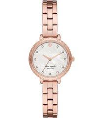 kate spade new york morningside bracelet watch, 28mm in rose gold/mop/rose gold at nordstrom