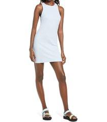 women's bp. sleeveless rib dress, size medium - blue