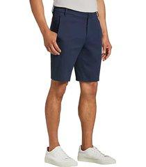 awearness kenneth cole men's awear-tech dark blue modern fit shorts - size: 38w