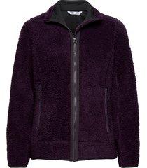 w sundown pile jacket sweat-shirts & hoodies fleeces & midlayers svart helly hansen