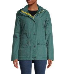 barbour women's crest jacket - emerald - size 14