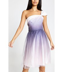 river island womens chi chi london pink one shoulder prom dress