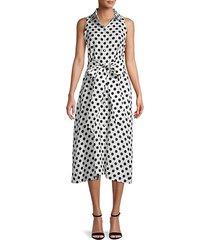 alison polka dot linen dress