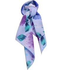lenço smm acessorios na latinha floral azul pastel.