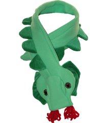 cachecol dani lessa dinossauro verde - kanui