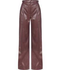 nanushka cleo vegan leather trousers