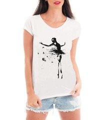 camiseta bata criativa urbana dançarina dança bailarina - feminino