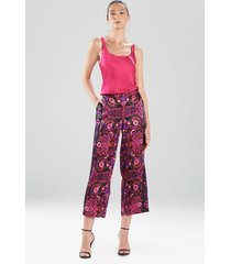 natori kashmir silk pants, women's, 100% silk, size l