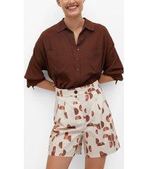 mango women's geometric-print shorts