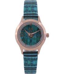 reloj verde-blanco-negro versace 19.69
