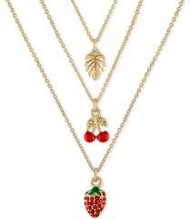 """rachel rachel roy gold-tone 3-pc. set tropical pendant necklace, 16"""" + 2"""" extender"""