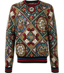 dolce & gabbana stained glass print sweatshirt - multicolour