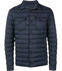 herno quilted shirt jacket - blue
