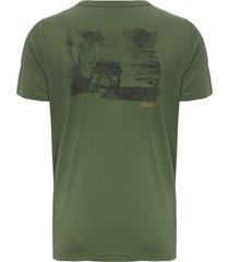 t-shirt masculina silkada land rover - verde