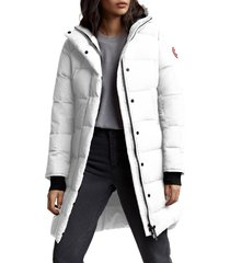 canada goose alliston packable down coat, size large in north star white at nordstrom