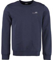 a.p.c. logo detail cotton sweatshirt