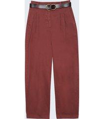 motivi pantaloni baggy in cotone donna viola
