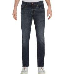 jeans bleecker elásticos ajustados azul tommy hilfiger