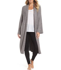 barefoot dreams(r) cozychic(r) lite cross creek long cardigan, size large in ash/pewter at nordstrom