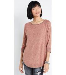 maurices womens haven cozy pink crew neck sweatshirt
