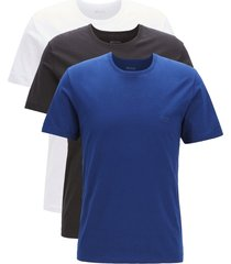 hugo boss 3-pack heren t-shirts - blauw/grijs/wit