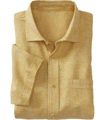 hennep-overhemd, saffraan-gemêleerd l