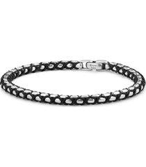 medium silver nylon box chain bracelet