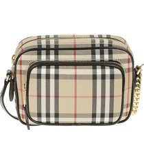 burberry check shoulder bag