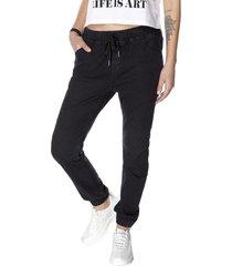 jeans jogger básico negro corona